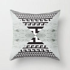 waves/grid #5 Throw Pillow