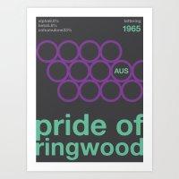 Pride Of Ringwood//singl… Art Print