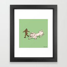 Neverending Dog Show Framed Art Print