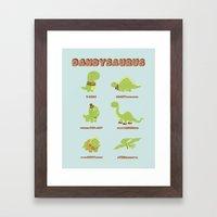 DANDYSAURUS Framed Art Print