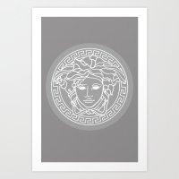 Versace Grey Art Print