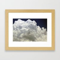 navy cloud Framed Art Print