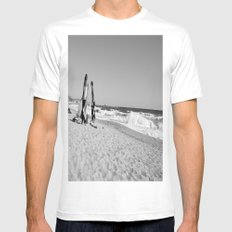 Beach Bummin' in Barcelona Mens Fitted Tee SMALL White