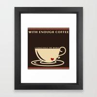 Productive Monday  Morning Framed Art Print