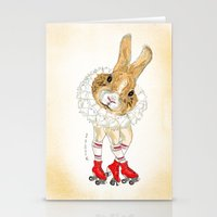 Roller Bunny Stationery Cards