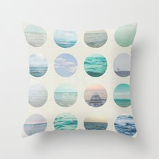 Ocean Polka Dot  Throw Pillow