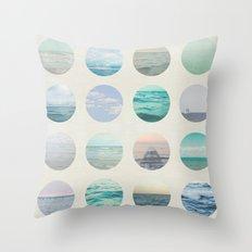 Ocean Polka dot  Throw Pillow
