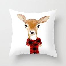 Fawn With Buffalo Check … Throw Pillow