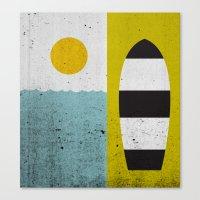 Sun & Board Canvas Print