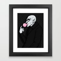 Popping Bubblegum Bubble  Framed Art Print
