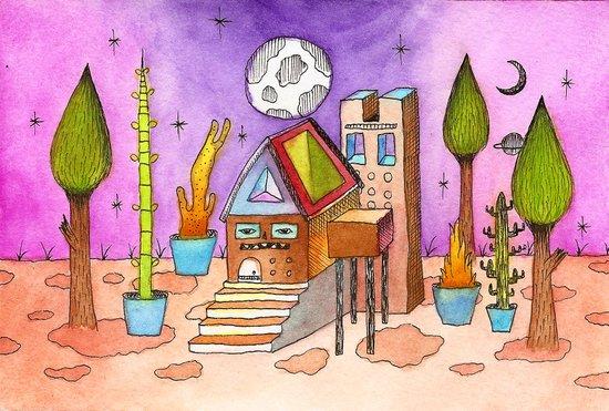 Dream House 1 Art Print