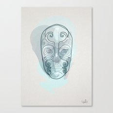 One line mask: Death eater's Canvas Print