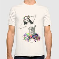 In Bloom Mens Fitted Tee Natural SMALL