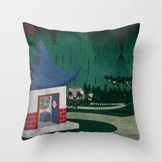 Four of Seven Throw Pillow