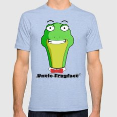 Uncle Frogface Mens Fitted Tee Tri-Blue SMALL