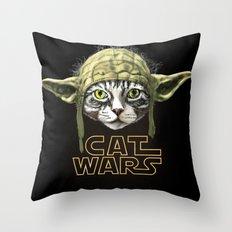 Cat Wars Throw Pillow