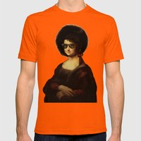 Mona Lisa Boogie Mens Fitted Tee Orange SMALL