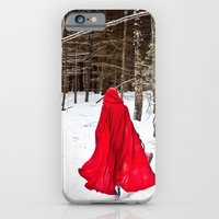 iPhone & iPod Case featuring Little Red Riding Hood Runs Through The Woods In Winter by TDSWHITE