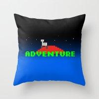 8-Bit Adventure On Mars Throw Pillow