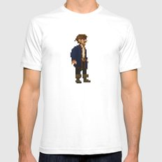 Pixel Ranger Mens Fitted Tee White SMALL