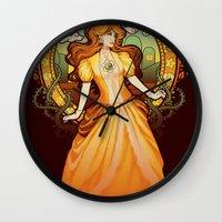 Daisy Nouveau Wall Clock