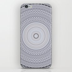 Kaleidoscope Greys Pattern iPhone & iPod Skin