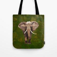 ELEPHANT: THE GREY GRAZER Tote Bag