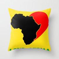 Love Africa Throw Pillow