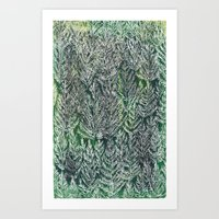 Snow Pines(Light Green) Art Print