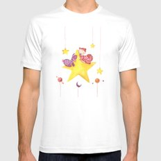 Baby star Mens Fitted Tee SMALL White