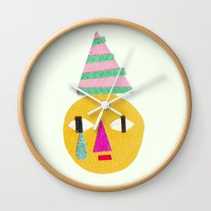 sad face Wall Clock