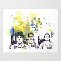 Ghostbusters Peter Venkman, Egon Spengler, Raymond Stantz Art Print