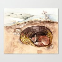 Fox's Den Canvas Print