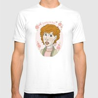 Pretty In Pink Portrait. Mens Fitted Tee White SMALL