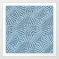A Calming Blue Art Print