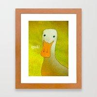 White Duck! Framed Art Print