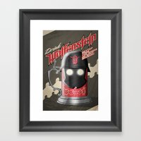 Drink Wolfenstein Framed Art Print