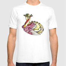 Floral Dragon SMALL Mens Fitted Tee White