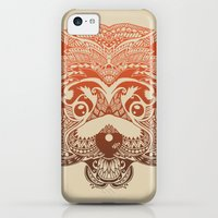 iPhone 5c Cases featuring Polynesian Red Panda by Huebucket