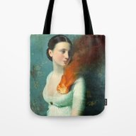 Tote Bag featuring Portrait Of A Heart  by Christian Schloe
