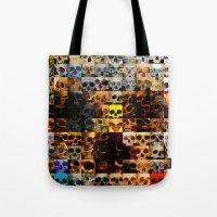 100 Painted Skulls Tote Bag