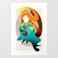 Madame Serpent Art Print