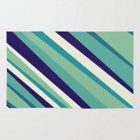 Blue Diagonal : Pattern Rug