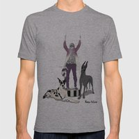 Silencio Mens Fitted Tee Athletic Grey SMALL