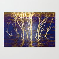 At Peace In Purple Canvas Print