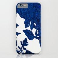 Royal Blue Leaves iPhone 6 Slim Case