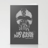 No Pain, No Bane Stationery Cards