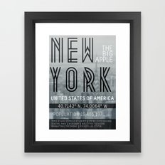 Metropolis New York Framed Art Print