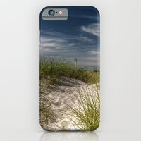 iPhone Cases featuring Light Tower and Dunes by UtArt