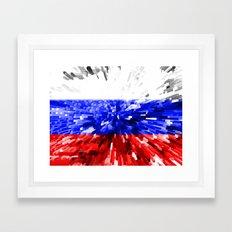Russia Flag - Extrude Framed Art Print